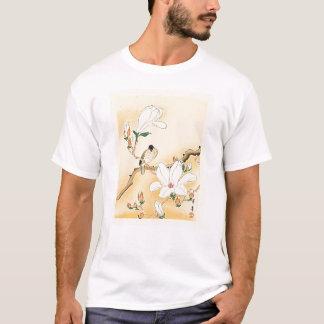 Bird on Magnolia Tree Japanese Woodblock Print T-Shirt
