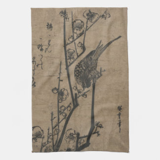 Bird on Plum Branch Kitchen Towel