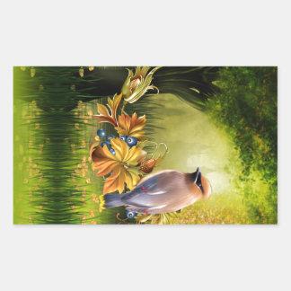 Bird On Pond Green Yellow