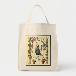 Bird on Swing - Organic Tote Bag