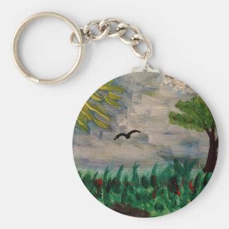 Bird on the Meadow Keychain