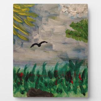 Bird on the Meadow Plaque