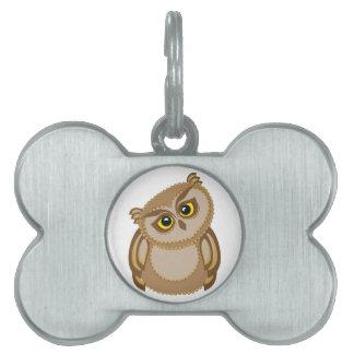 bird owl 2 pet ID tag