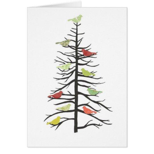 Bird Paper Tree Card