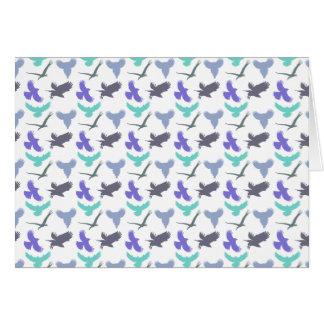 Bird Pattern Greeting Card