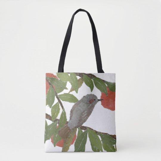 Bird, Persimmon, Tree, Bulbul, Oriental, Japanese Tote Bag