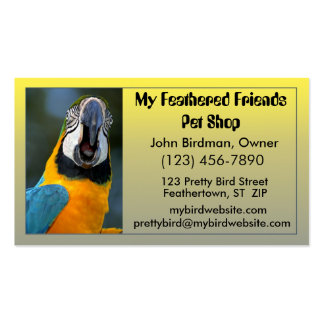 Bird Pet Store Business Card
