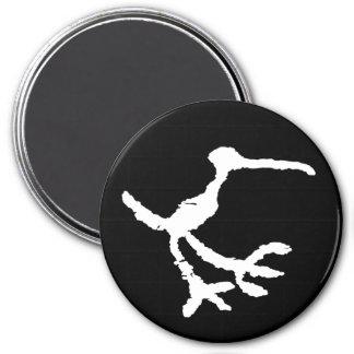 Bird Petroglyph - Petrified Forest, Arizona 3 Inch Round Magnet