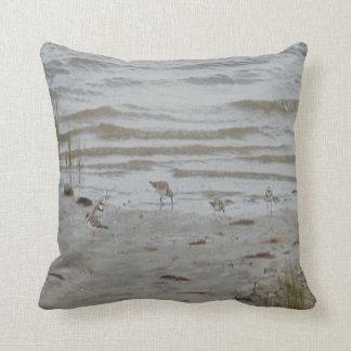 bird photo #19- piping plover and killdeer throw pillow
