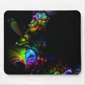 Bird Rainbow Fractal Mousepad