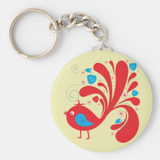Bird ~ Red and Blue Birds Keychains