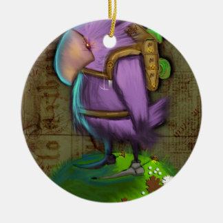 Bird Round Ceramic Ornament