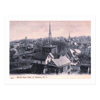 Bird's Eye View of Newton, New Jersey Vintage Postcard