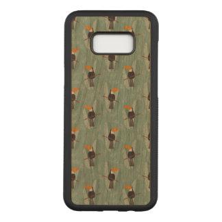 Bird Samsung Galaxy S8+ Slim Cherry Wood Case