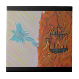 Bird Set Free Ceramic Tile