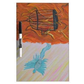 Bird Set Free Dry Erase White Board