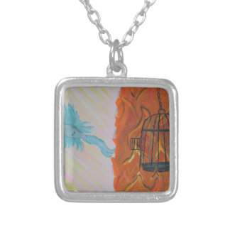 Bird Set Free Silver Plated Necklace