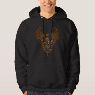Bird & Shield Sugar Skull (brown) Hoodie