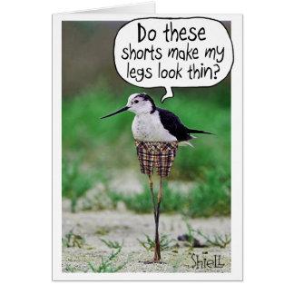 BIRD SHORTS CARD