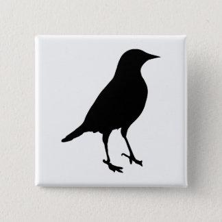 Bird Silhouette 2 Inch Square Button