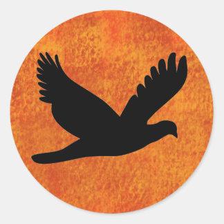 Bird Silhouette Round Sticker