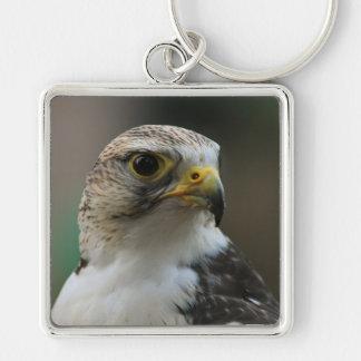 Bird Silver-Colored Square Keychain