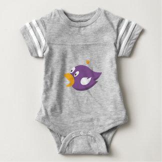 bird singing and shouting baby bodysuit