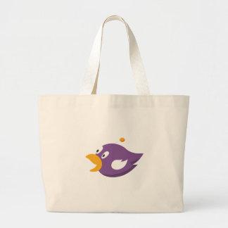 bird singing and shouting large tote bag