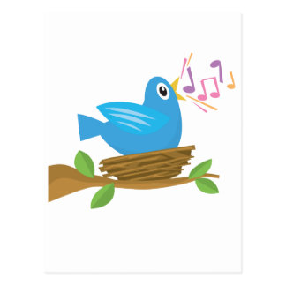 Bird Singing Postcard