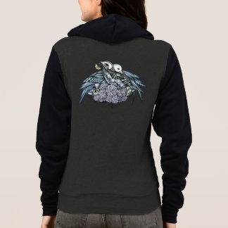 Bird Skeletons in Love Hoodie