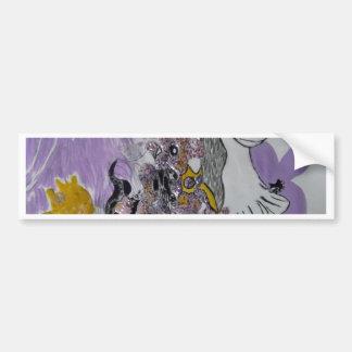Bird Snakes and Woman Design Bumper Sticker