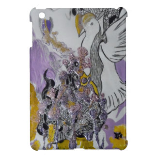 Bird Snakes and Woman Design iPad Mini Cases