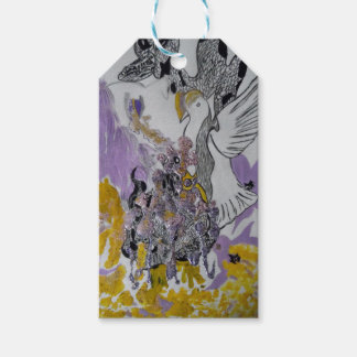 Bird Snakes and Woman Design Pack Of Gift Tags