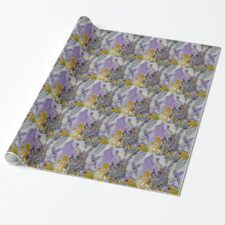 Bird Snakes and Woman Design Wrapping Paper