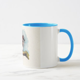 Bird: Sparrow in Watercolor Mug