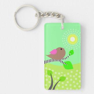 Bird & Sun Day & Night Keychain