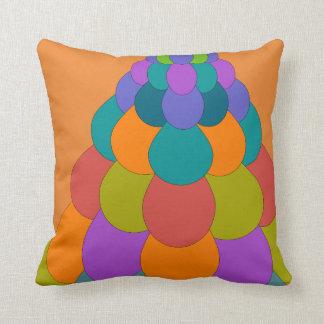 Bird Tail1 on Orange Throw Pillow
