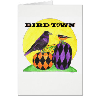 Bird Town Note Card