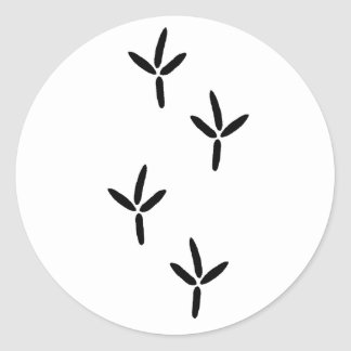Bird Tracks (egret) Classic Round Sticker