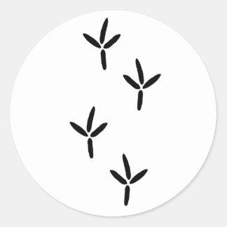 Bird Tracks (egret) Round Sticker