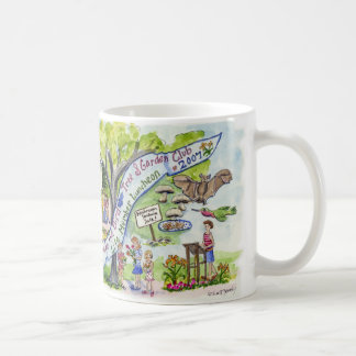 bird tree and garden celebration coffee mug