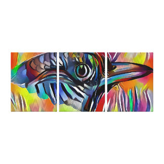 Bird Triptych - Wrapped Canvas