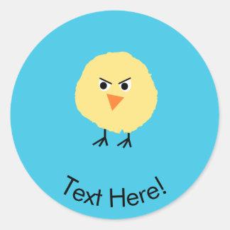 Bird Very Upset Classic Round Sticker