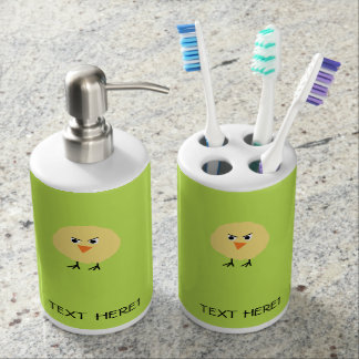 Bird Very Upset Soap Dispenser And Toothbrush Holder