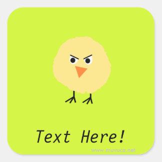 Bird Very Upset Square Sticker