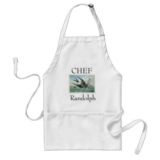 Bird_Vintage_Art_CHEF_Name-Template_Multi Sizes Standard Apron