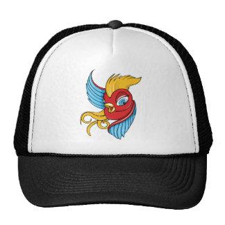 Bird Vintage Forties Tattoo Bird Art Trucker Hats