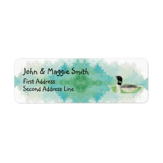 Bird Wildlife Painting Loon Address Label