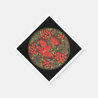Bird with Berries-Russian Folk Art - Paper Napkins