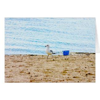 Bird with Sand Pail Card